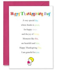 Happy Thanksgiving Day   - Cute Happy Thanksgiving Day Greetings Card, 5x 7inch