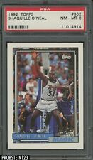 1992-93 Topps #362 Shaquille O'Neal Orlando Magic RC Rookie HOF PSA 8 NM-MT