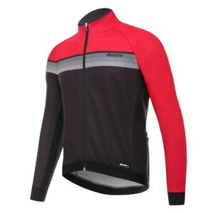 H Way Windstopper Men's Jacket in Red/Black Made in Italy by Santini Size S