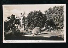 Australia Vic Queen Victoria Statue c1950s? RP PPC Rose Stereograph