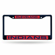 Cleveland Indians MLB Navy Painted Metal Laser Cut License Plate Frame