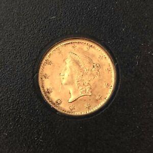1853 P $1 Gold Liberty Head Gold Dollar Type 1 Pre Civil War Better Philadelphia
