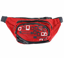 Red Bum Bags, 3 Zip Compartments with Adjustable Strap.