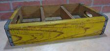 Original Old DRINK COCA-COLA Wooden Case Box Yellow Red Coke Soda Adv Sign Crate