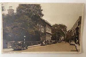 Postcard Commercial Street Pontypool with Vintage Cars