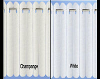 Rhodes Vertical Lace Pleated Blind White / Champagne Choice of Sizes CUT TO SIZE
