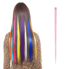 5PCS Women Multi Color Long Straight Synthetic Clip in on Hair Extensions Piece
