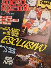 Motosprint 8 1983 Test Honda MVX 250 F - Kenny Roberts - Uncini  [SC.31]