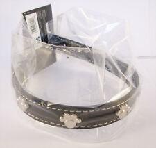 Collier Noir pour chien avec motifs: 4 Pattes - Tour de cou  23 - 31 cm