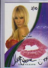 2008 Benchwarmer  Lisa Gleave  Green  Kiss / Autograph 2/10