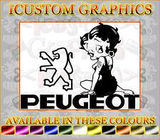 Betty Boop peugeot girls girly vinyl car sticker novelty fun decals 106 206 jdm