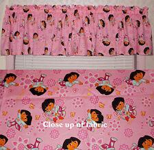 New Dora the Explorer Girls Room Bedroom Pink Window Cover Valances Curtains