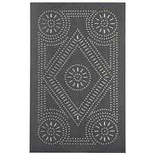 Country new aged blacken punched tin;/ extended size diamond Cabinet panel