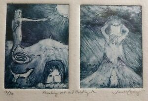 JANET KERSEY Reaching out and holding in SIGNED NUMBERED LTD ED ETCHING PRINT