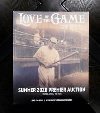 2020 Love Of The Game Premier Auctions Catalog Babe Ruth On Cover August Close