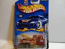 2003 Hot Wheels #195 Rig Wrecker w/Gold Y5 Wheels Final Run 2002 Tampo