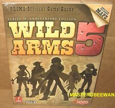 Wild Arms 5 Series 10 Anniversary Edition Official Guide Book PS2 New Sealed