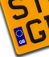 EURO Gb Targa adesivo vinile per dell' Unione europea European TRAVEL moto decalcomanie Badge