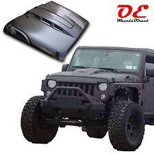 Jeep JK Wrangler Rubicon Steel Heat Expulsion Metal Vented Hood 07-16 Paintable