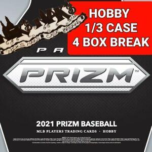 ATLANTA BRAVES 2021 PRIZM BASEBALL HOBBY 1/3 CASE 4 BOX BREAK #11