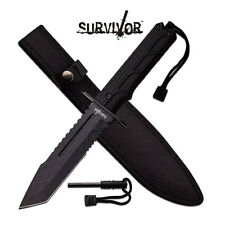 "SURVIVOR HK-796TW FIXED BLADE KNIFE 12"" OVERALL NIB"