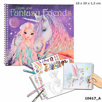 Top Model Create Your Fantasy Friends Activity - Colouring/Sticker Book - 10617