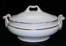 Suppenterrine oval Jugendstil (1890-1919) Goldrand Terrine groß  H 255