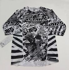 AlpineStars Gravity 3/ 4Sleeve Men's Jersey Black White Gray Size XS