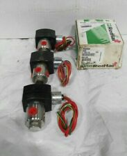 (3) New ASCO RedHat 12vdc Solenoid valve EF8320G200 60psi air, water, oil