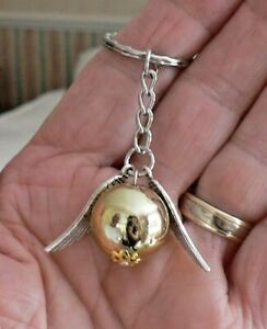 Harry Potter Inspired Keyring Gift Silver and Gold Coloured Key Ring