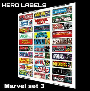 🔥HERO LABELS BRAND Comic Book Box Divider Labels Marvel Comics set 3
