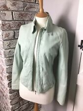 Ladies Autograph Soft Mint Creased Leather Casual Jacket. Size 10UK. Ex Cond.