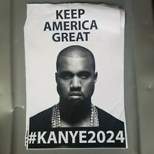 Kanye West Keep America Great Custom 2024 presidentisl Poster 11x17 inch