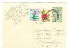 Belgian Congo HG:84-uprated Sc#268,#271-STANLEYVILLE 1958-to USA-minor wear