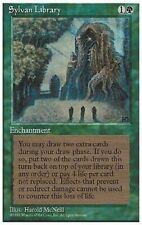 1X Sylvan Library - Renaissance - * German FBB, LP * MTG CARD