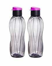 Tupperware H2O On The Go Eco Sports Black Flip Top Water Bottles 500ml,Set of 2!