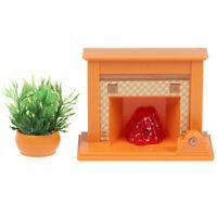 1set 1:12 Dollhouse Miniature Fireplace Model Ornament Scene Accessories Toys