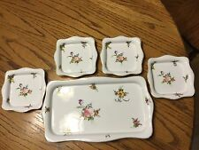 Antique Nippon Ice Cream Tray and 4 Dessert Dishes Set