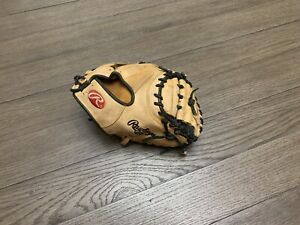 "Rawlings Heart Of The Hide 34"" Catchers Mitt Baseball Glove Brown"