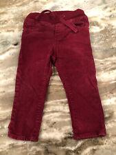 Baby Gap Elastic Front Pants Baby boy Size 18-24 Months Maroon Corduroy Pants
