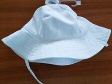 Old Navy Girls 6-12 12-24 4T-5T Sun Hat WHITE Chin Strap Wide Brim Beach #37319