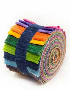 2.5 inch Kaleidoscope Jelly Roll 100% cotton fabric quilting strips 17 strips