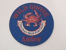 Beer Coaster ~ Chesapeake's Own WILD GOOSE Brewing Co ~ MARYLAND ** CLOSED 1997