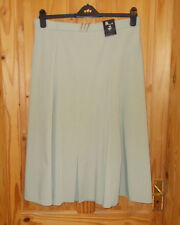 30D pale olive green sage midi calf long flare elasticated waist skirt BNWT 18