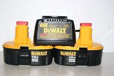 2 New Dewalt DC9096 18V XRP batteries DW9116 Charger