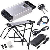 48V 14.5Ah Lithium Battery Li-ion Rear Rack w/ Charger Electric Bicycle E-Bike