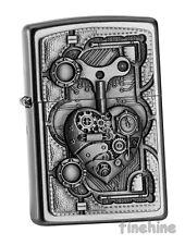 Satin Silver Emblem-ZIPPO Spring 2016 neu+ovp STEAM PUNK HEART