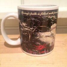 """Thomas Kinkade """"Spring Gate"""" Coffee Mug Cup 1997 Oil Painting Painter of Light"""