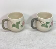 """Pair of 4"""" Coffee Cups Franciscan DESERT ROSE Excellent!"""