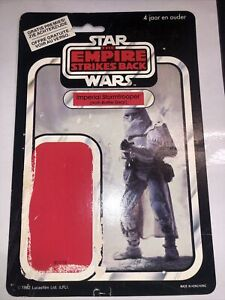 Vintage star wars esb imperial hoth storm snowtrooper Clipper 45 Card Back rare